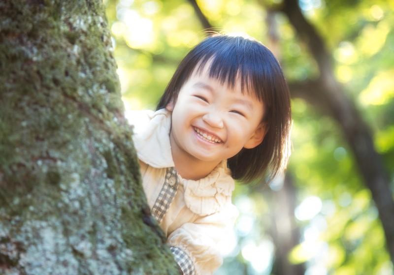 笑顔で免疫力アップの少女